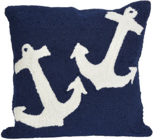 Trans-Ocean Frontporch Pillow Anchor 1664/33 Navy