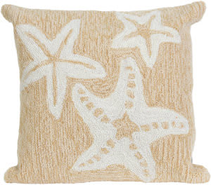 Trans-Ocean Frontporch Pillow Starfish 1667/12 Neutral