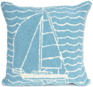 Trans-Ocean Frontporch Pillow Sails 1673/04 Ocean