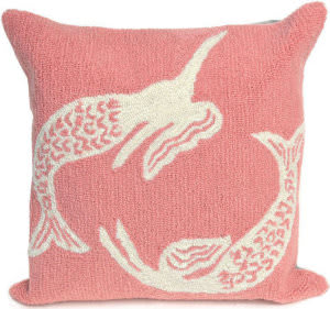 Trans-Ocean Frontporch Pillow Mermaids 1674/18 Coral