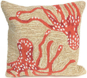Trans-Ocean Frontporch Pillow Octopus 1677/17 Coral