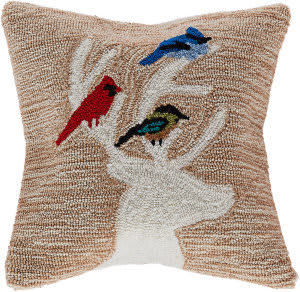 Trans-Ocean Frontporch Pillow Deer And Friends 1819/12 Natural