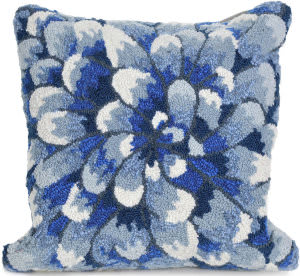 Trans-Ocean Frontporch Pillow Mum 1828/03 Blue