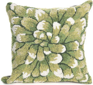 Trans-Ocean Frontporch Pillow Mum 1828/06 Green