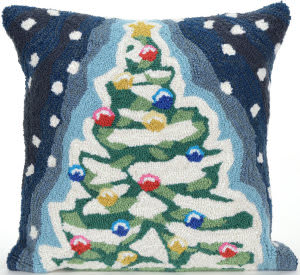 Trans-Ocean Frontporch Pillow Xmas Tree 1844/47 Midnight