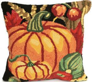 Trans-Ocean Frontporch Pillow Pumpkin 2412/48 Black