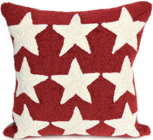 Trans-Ocean Frontporch Pillow Stars 4251/24 Red
