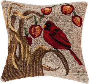 Trans-Ocean Frontporch Pillow Bird 4394/12 Natural