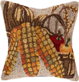 Trans-Ocean Frontporch Pillow Corn 4396/12 Natural
