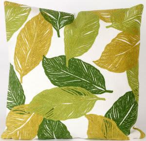 Trans-Ocean Visions I Pillow Mystic Leaf 4051/06 Green Area Rug