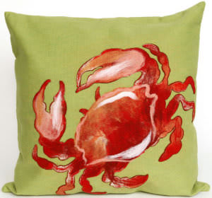 Trans-Ocean Visions I Pillow Crab 4154/24 Red Area Rug