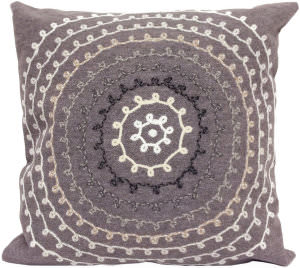 Trans-Ocean Visions Ii Pillow Ombre Threads 4105/47 Grey Area Rug