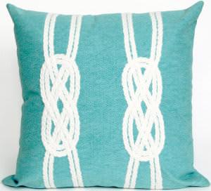 Trans-Ocean Visions Ii Pillow Double Knot 4142/04 Aqua Area Rug