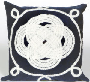 Trans-Ocean Visions Ii Pillow Ornamental Knot 4143/33 Navy Area Rug