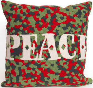 Trans-Ocean Visions Ii Pillow Peace 4201/24 Red Area Rug