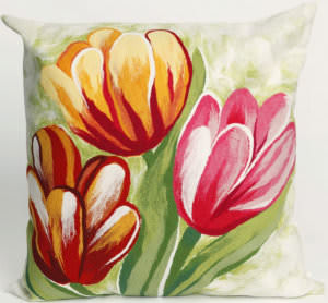 Trans-Ocean Visions Iii Pillow Tulips 3208/24 Warm Area Rug