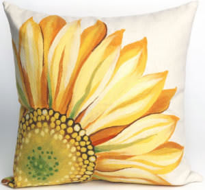 Trans-Ocean Visions Iii Pillow Sunflower 3216/09 Yellow Area Rug