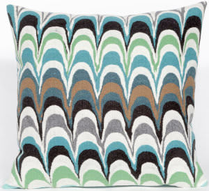 Trans-Ocean Visions Iii Pillow Floating Ink 3419/04 Aqua Area Rug