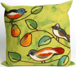 Trans-Ocean Visions Iii Pillow Song Birds 4119/06 Green Area Rug