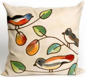 Trans-Ocean Visions Iii Pillow Song Birds 4119/12 Cream Area Rug