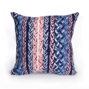 Trans-Ocean Visions Iii Pillow Braided Stripe 412503 Navy
