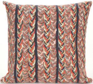 Trans-Ocean Visions Iii Pillow Braided Stripe 4125/19 Earth Area Rug