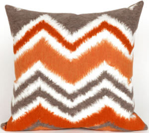 Trans-Ocean Visions Iii Pillow Zigzag Ikat 4167/17 Orange Area Rug
