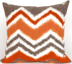 Trans-Ocean Visions Iii Pillow Zigzag Ikat 4167/17 Orange Area Rug