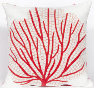 Trans-Ocean Visions Iii Pillow Coral Fan 4185/17 Coral Area Rug