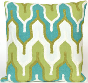 Trans-Ocean Visions Iii Pillow Crochet Tower 4197/06 Green Area Rug