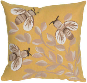 Trans-Ocean Visions Iii Pillow Bees 4318/09 Honey Area Rug