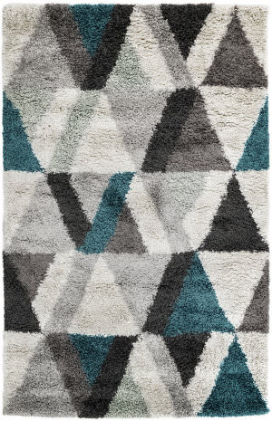 Trans-Ocean Andes Triangle 6241/04 Blue Area Rug