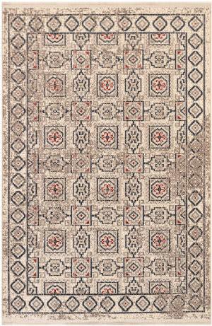 Trans-Ocean Bergen Tile 6208/12 Ivory Area Rug