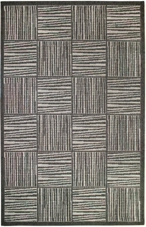 Trans-Ocean Belmont Squares 7305/47 Charcoal Area Rug