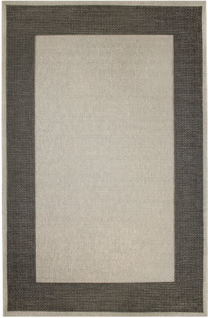 Trans-Ocean Belmont Border 7310/47 Charcoal Area Rug