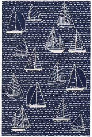 Trans-Ocean Capri Sails 1673/33 Navy Area Rug