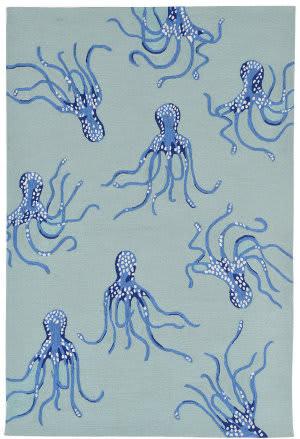 Trans-Ocean Capri Octopus 1677/04 Aqua Area Rug