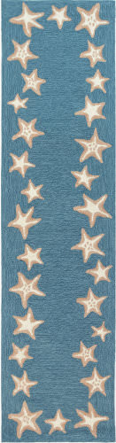 Trans-Ocean Capri Starfish Border 1710/04 Blue Area Rug