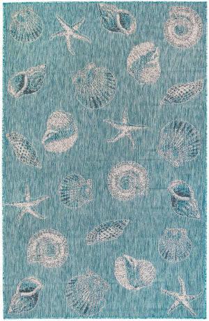 Trans-Ocean Carmel Shells 8414/04 Blue Area Rug