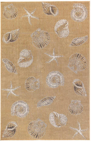 Trans-Ocean Carmel Shells 8414/12 Natural Area Rug