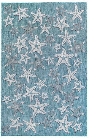 Trans-Ocean Carmel Starfish 8415/04 Blue Area Rug