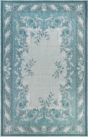 Trans-Ocean Carmel Aubusson 8424/04 Blue Area Rug