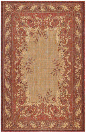 Trans-Ocean Carmel Aubusson 8424/24 Red Area Rug