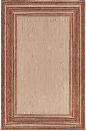 Trans-Ocean Carmel Multi Border 8425/24 Red Area Rug