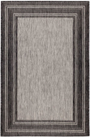 Trans-Ocean Carmel Multi Border 8425/48 Black Area Rug