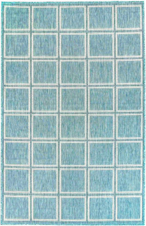 Trans-Ocean Carmel Squares 8426/04 Blue Area Rug