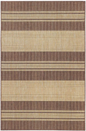 Trans-Ocean Carmel Stripe 8435/19 Brown Area Rug