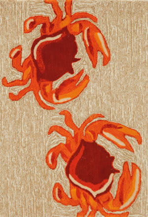 Trans-Ocean Frontporch Crabs 1404/12 Natural Area Rug