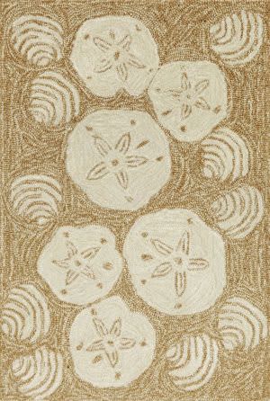Trans-Ocean Frontporch Shell Toss 1408/22 Natural Area Rug