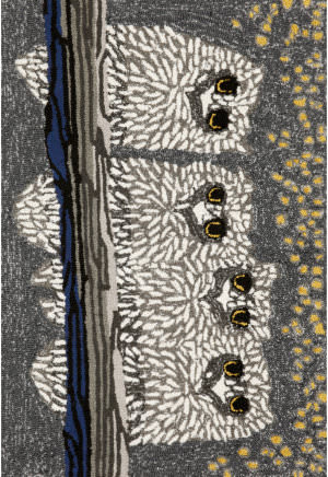 Trans-Ocean Frontporch Owls 1443/47 Night Area Rug